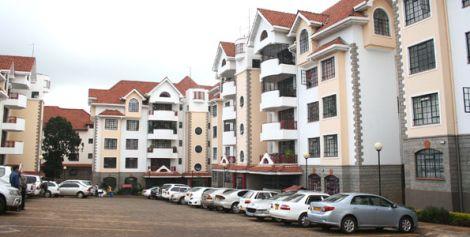 A block of apartments in Nairobi, Kenya.