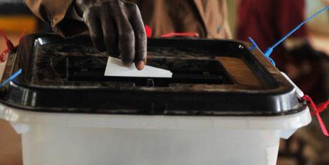 A citizen casting their vote.