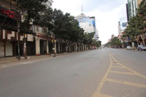 A deserted Moi Avenue, in Nairobi - Stay Home.