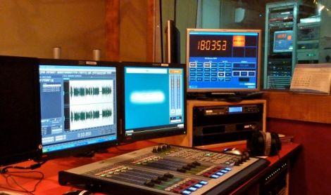 A file image of a radio studio