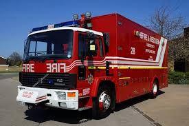 A fire engine.