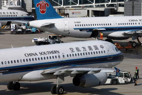 File image of a fleet of China Southern Airlines planes