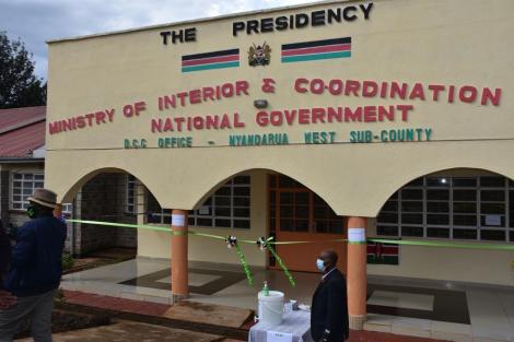 A new office of the Interior Ministry being launched in Nyandarua.