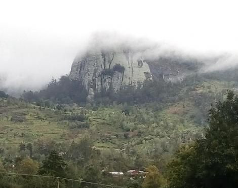 A photo of a rocky hill in Taita Taveta County.