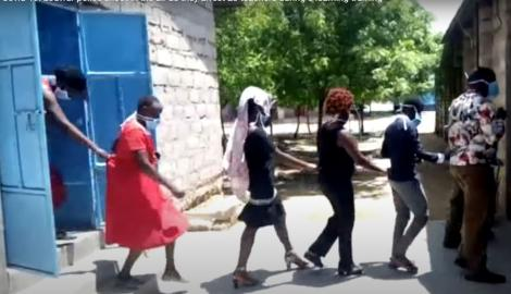 A screenshot of some of the teachers arrested in Lodwar on Thursday, May 7, 2020.