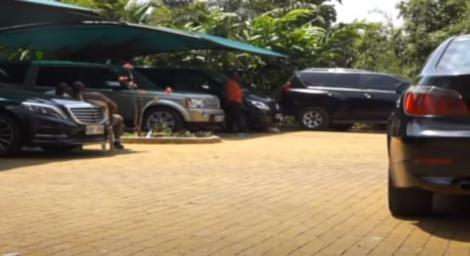 A section of the parking lot at Jimmy Wanjigi's Muthaiga Home.