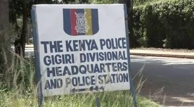 A signpost showing Gigiri Police Station