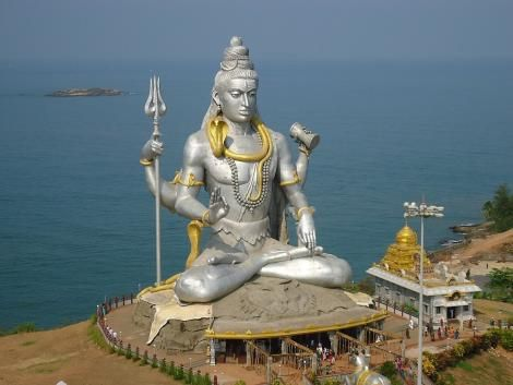 A statue of Hindu Lord Shiva.