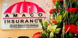 AMACO insurance logo on a building