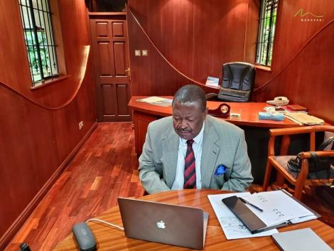 ANC Party Leader Musalia Mudavadi in a virtual meeting with 19 EU ambassadors on June 10, 2020