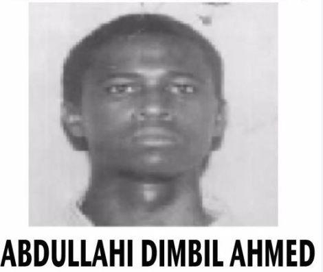 Wanted terror suspect Abdullahi Dimbil Ahmed