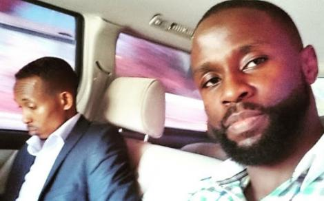 African Uncensored founder John Allan Namu (right) and Nyali MP Mohammed Ali