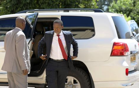 Machakos Governor Alfred Mutua pictured arriving at the Kenya School of Government (KSG) for a devolution meeting on February 20, 2020
