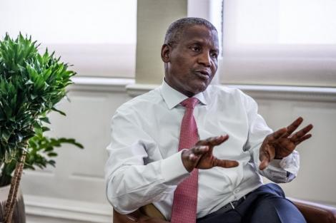 Aliko Dangote, chairman and CEO of the Dangote Group, photographed at his office in Lagos, Nigeria in July 2018