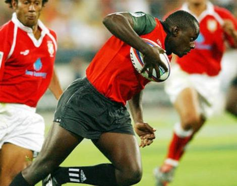 Former Kenya 7's star, the late Allan Makaka in a past tournament