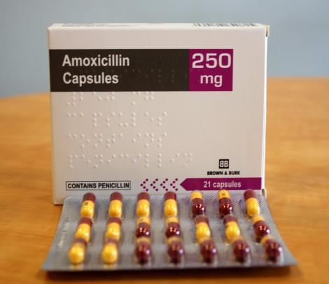 A sample of Amoxicillin tablets