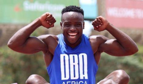 An Undated Image of Kenyan Sprinter Ferdinand Omanyala.