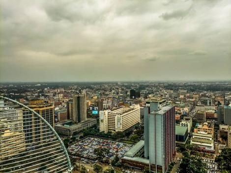 An aerial photo of Nairobi