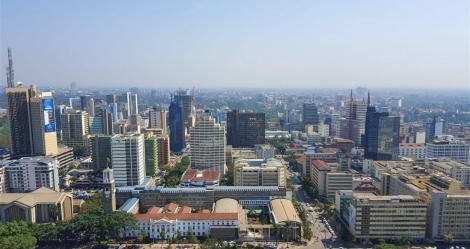 An aerial view of Kenya's capital, Nairobi.