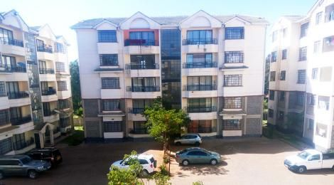 An apartment block in Karen Estate, Nairobi.