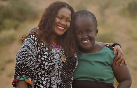 Journalist Anne Ngugi with her daughter Angela Ngugi