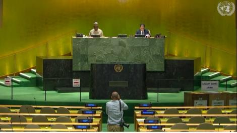 Announcement of the results at the United Nations General Assembly on June 17, 2020.