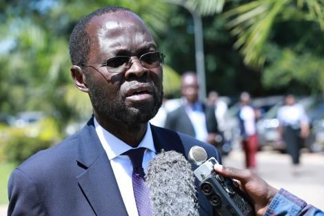 Kisumu Governor Anyang' Nyong'o addresses the media at Kenya School of Government (KSG), Lower Kabete in Kiambu During a Consultative Devolution meeting on Thursday, February 20, 2020.