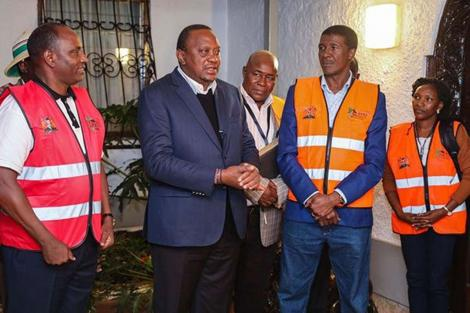 President Uhuru Kenyatta and National Treasury CS Ukur Yattani when he was counted as part of the 2019 census process on August 29, 2019.
