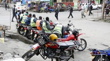 An image of boda boda riders
