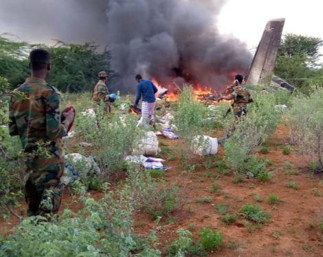 Plane carrying coronavirus aid crashes in Somalia