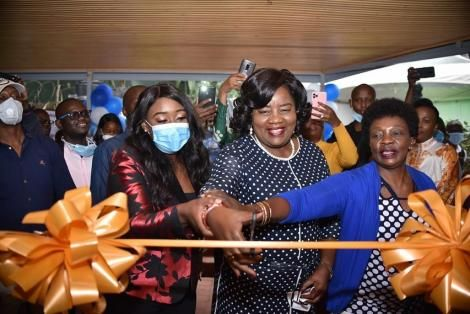 Betty Kyallo and Ida Odinga at the launch of Flair by Betty on June 27, 2020
