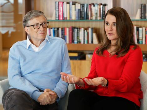 File image of Bill and Melinda Gates