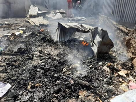 Houses in Bondeni slums in Athi River razed down by fire