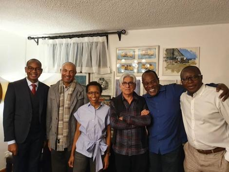 (From left) Joshua Oigara, Peter Kenneth, Wambui Kamiru Collymore, Bharat Thakrar, Jeff Koinange and Patrick Quarcoo pictured on Tuesday, June 30, 2020