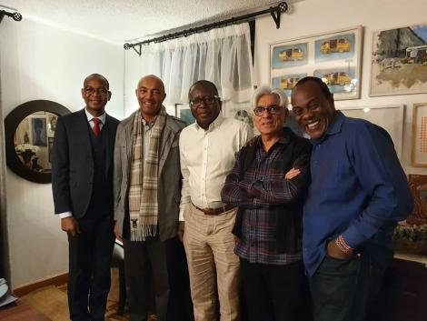 (From left) Joshua Oigara, Peter Kenneth, Patrick Quarcoo, Bharat Thakrar and Jeff Koinange pictured on Tuesday, June 30, 2020