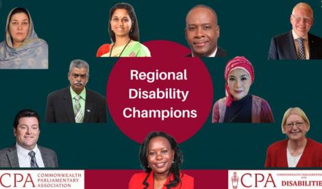The Commonwealth Parliamentary Association (CPA) has announced nine new Regional Champions, selected to lead and champion the Commonwealth Parliamentarians with Disabilities (CPwD) network.
