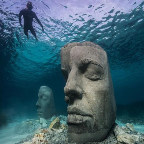 Undated photo of the underwater museum in Cannes