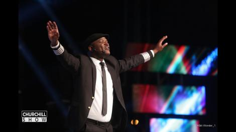 Captain Otoyo performing on the Churchill Show.