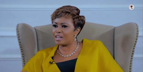 Caroline Mutoko addresses guests on her show on February 4, 2020.