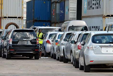 File image of cars pictured at the Port of Mombasa