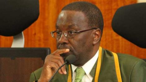 Former Chief Justice Willy Mutunga during a court seating while he served as the Chief Justice.