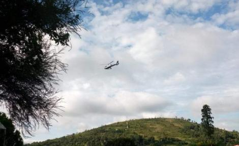 A helicopter that reportedly ferried former Bomet Governor Isaac Ruto to State House on Wednesday, May 13, 2020