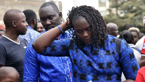 Chris Msando's widow, Eve,