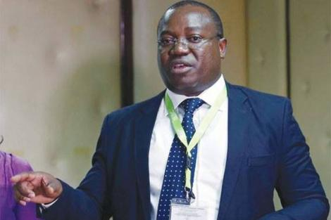 Former IEBC ICT Manager Chris Msando gestures at a press conference in 2017 before he was found dead on July 31, 2017