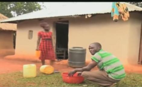 Christopher Abwire and his wife Lilian Weta at their home in Siroba village, Busia County on January 16, 2021.