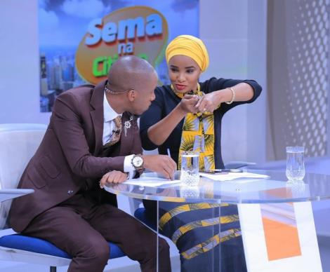 Citizen TV News Anchors Rashid Abdalla (Left) and his wife Lulu Hassan.