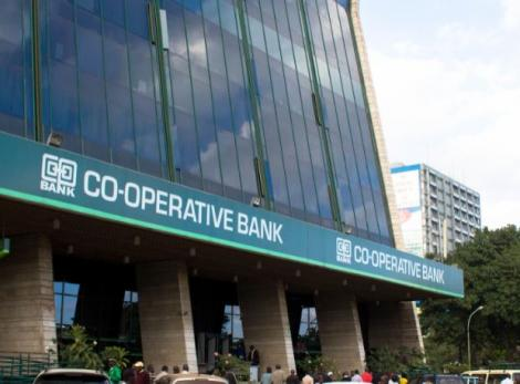 Co-operative Bank's headquarters in Nairobi CBD.