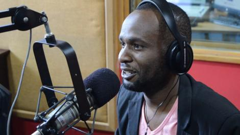 Rapper Collins Majale pictured during a past radio interview