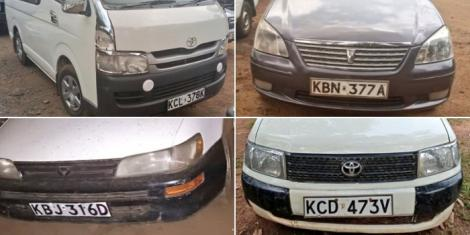 Some of the cars recovered by DCI detectives between July 2 and July 3, 2020