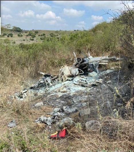 An image of a crashed plane
